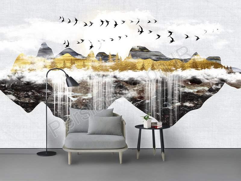 طرح کاغذ دیواری دیوار زمینه گل رویایی مینیمالیستی مدرن