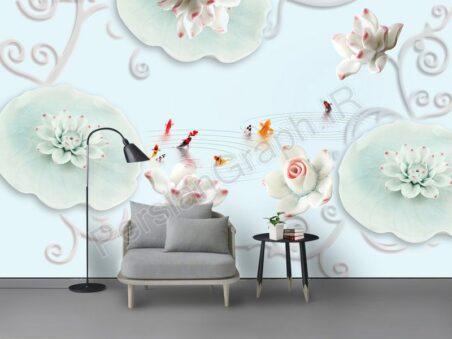 خطوط طلایی مینیمالیستی مدرن طرح کاغذ دیواری دیوار تلویزیون پس زمینه پارچه ای را ترک می کند