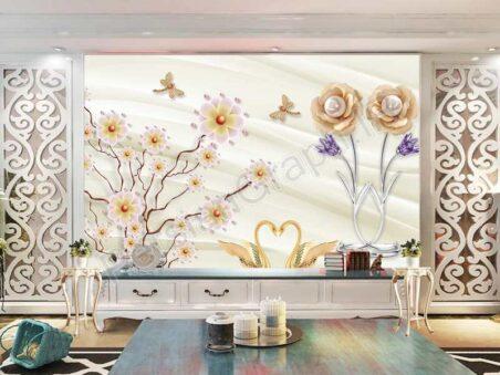 طرح کاغذ دیواری مدرن درخت مینیمالیستی مدرن مینیمالیستی نوردیک 3D استریو دیوار زمینه پس زمینه