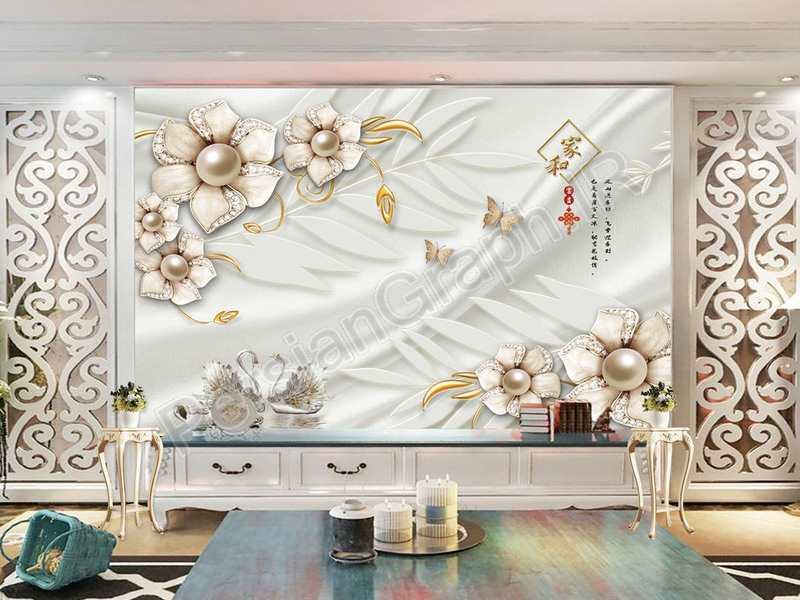 طرح کاغذ دیواری مدرن مینیمالیستی 3d استریو رنگ پر دیوار تلویزیون پس زمینه دیوار