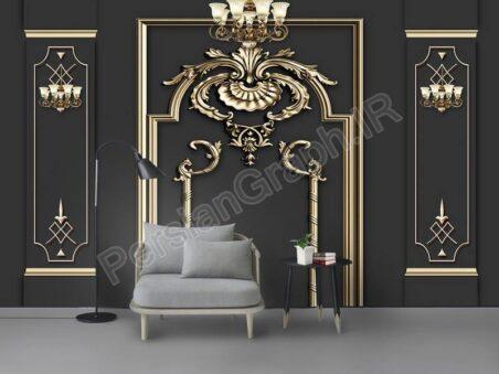 طرح کاغذ دیواری ساده جواهرات خلاق 3D ، دیوار تلویزیون مدرن پس زمینه