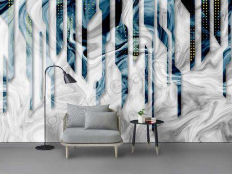 طرح کاغذ دیواری جدید چینی تصور هنری جوهر نیلوفر آبی دیوار پس زمینه