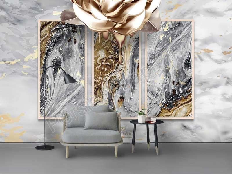 طرح کاغذ دیواری مدرن مینیمالیستی مد منبت کاری شاخه گل سه بعدی دیوار زمینه جواهرات پروانه