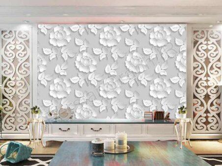 طرح کاغذ دیواری نوردیک جنگل بادی الک دیواری زمینه تلویزیون