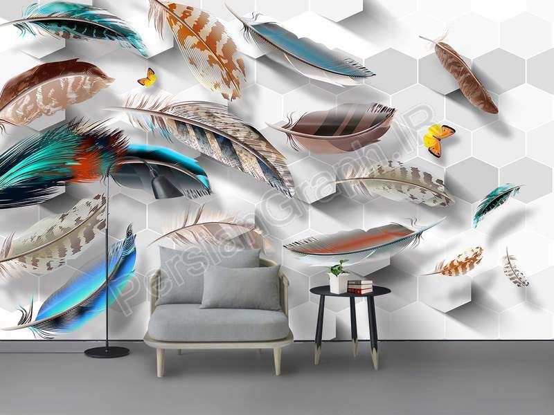 طرح کاغذ دیواری جدید مثلث مثلث 3D مثلث سنگ مرمر تلویزیون دیوار پس زمینه